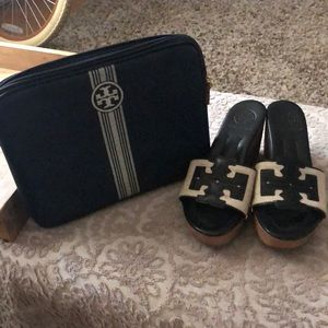 TORY BURCH authentic wedges and tablet case